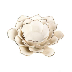 White Lotus Tealight Candle Holder