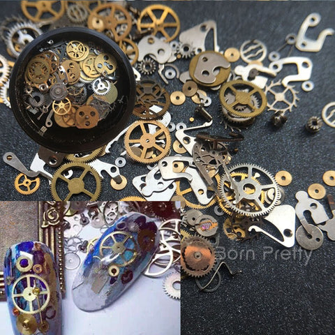 Born Pretty Ultra-thin Steam Punk Parts Style Nail Studs