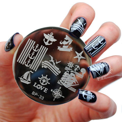 BORN PRETTY BP33 Sailors & Sea Sailing Theme Nail Art Stamp Template
