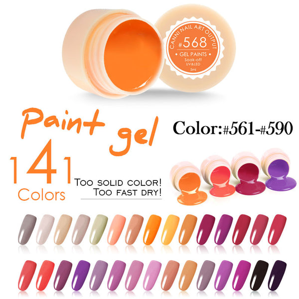 CANNI UV Gel Paint 141 colors 5ml Nails Gel UV Colors 561 - 590