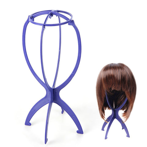 Plastic Folding Stable Durable Wig Display Holder