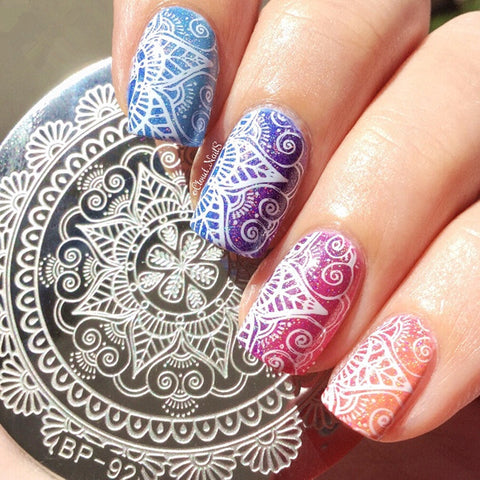 BORN PRETTY BP-92 Arabesque Full Lace Nail Stamping Plate