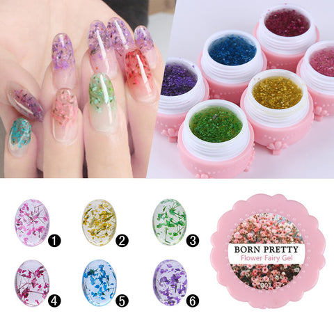 BORN PRETTY Flower Fairy Nail Gel Polish 5g Floral Soak Off