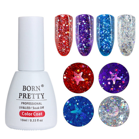 BORN PRETTY Holographic Sequins Nail Gel Polish
