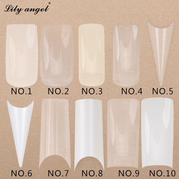 500 Pcs Transparent White False Nail Art Design Tips