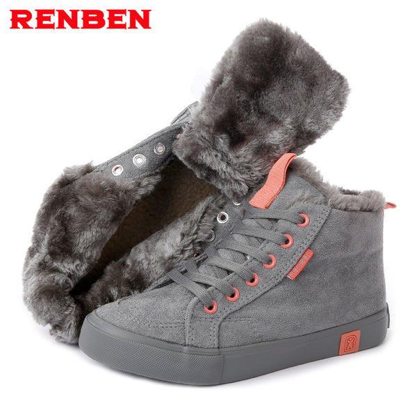 Warm  Suede Fur Snow Ankle Boots