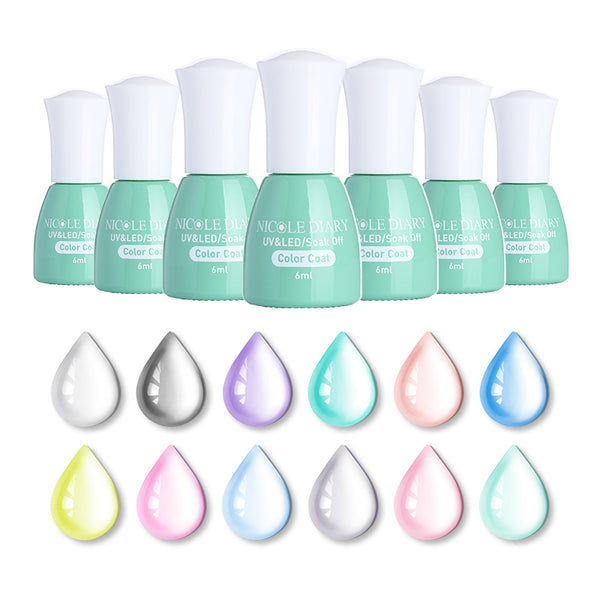 NICOLE DIARY Opal Jelly Gel Semi-transparent Nail Art UV Gel Polish