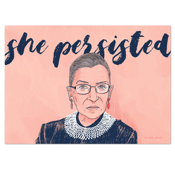 she persisted notorious rbg postcard seven olives