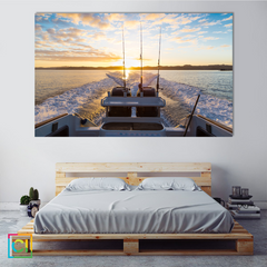 Beautiful Sunrise From Boat Canvas