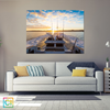Image of Beautiful Sunrise From Boat Canvas