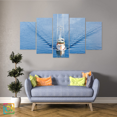 Front View of Fishing Boat Canvas