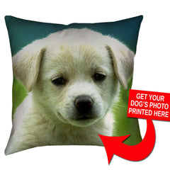 "Custom Dog Photo Pillow - 18"" X 18"" - Zaprem"