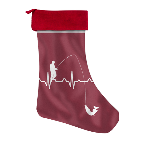 Creative Design Fishing Christmas Stocking