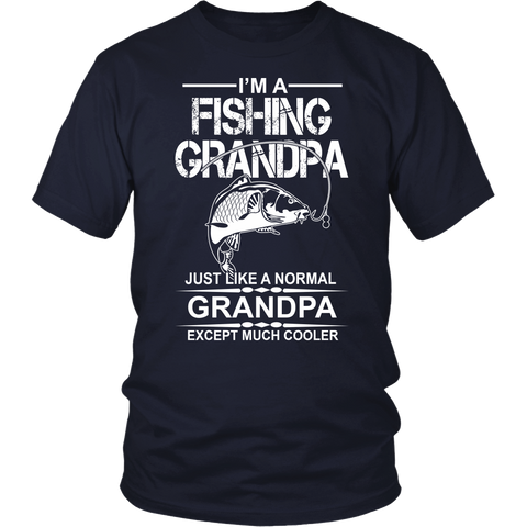 Cool Fishing Grandpa T- Shirt