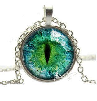Vintage Colored Cat Eye Necklace - FREE