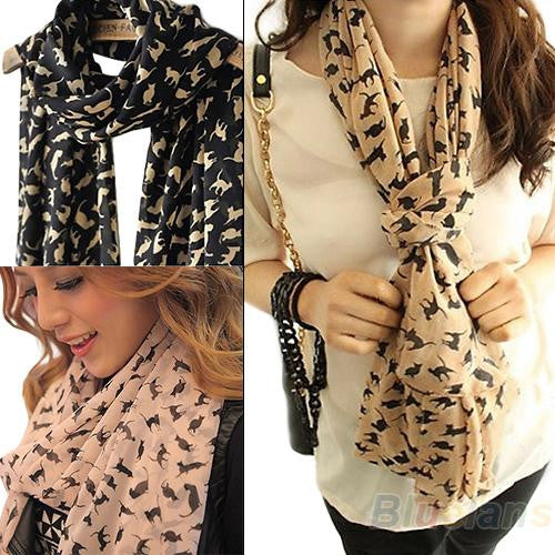 Cute Chiffon Cat Scarves - Zaprem