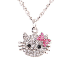 Cat Rhinestone Hello Kitty Necklace - FREE