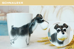 3D Dog Breeds Hand Painted Cups