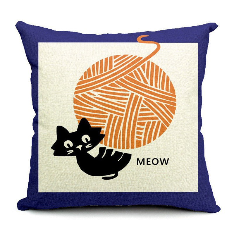 Decorative printed cat cushion (Buy any 2 and get 1 FREE cat jewelry - $19.95 value!) - Zaprem