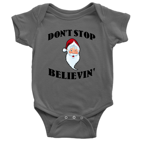Don't Stop Believing Santa Apparel
