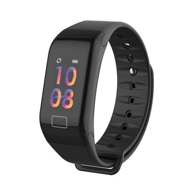 Fitband Blood Pressure Heart Monitor Smart Watch Bracelet with Sleep Monitor Smart Watch Overstocktogo Black