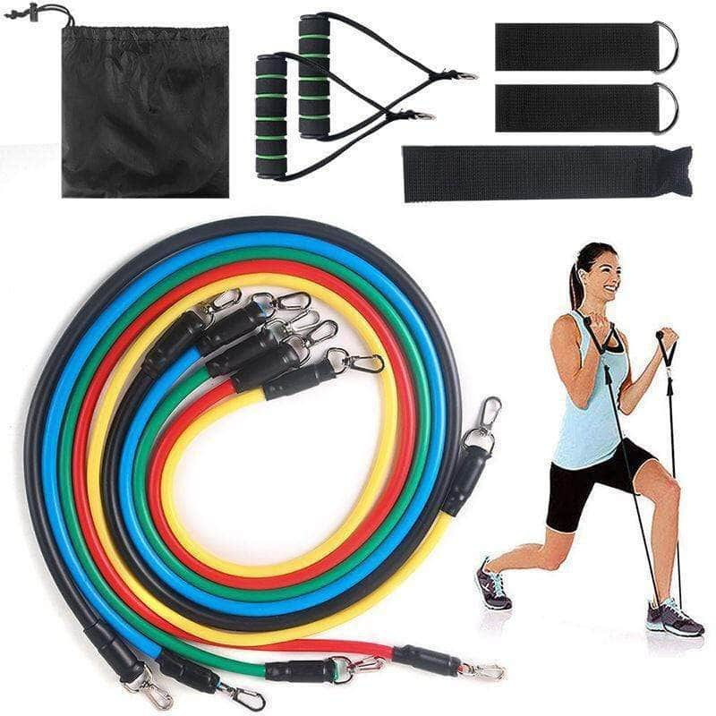 Resifitbands™ Fitness Resistance Band Set-Best Full Body At Home Gym Set Fitness Overstocktogo