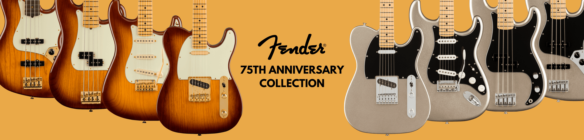 Fender unveil the 75th Anniversary Collection