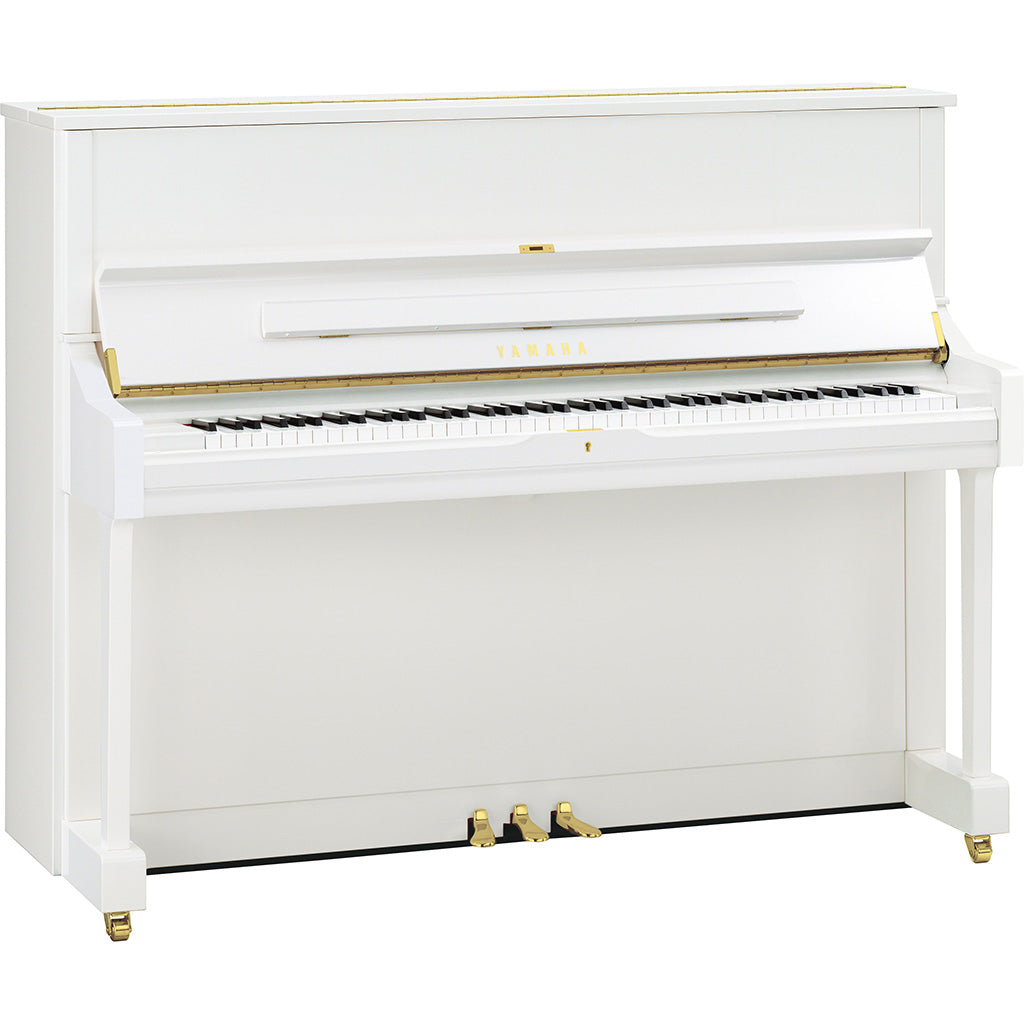 Yamaha U1PWHQ Upright Piano - Polished White