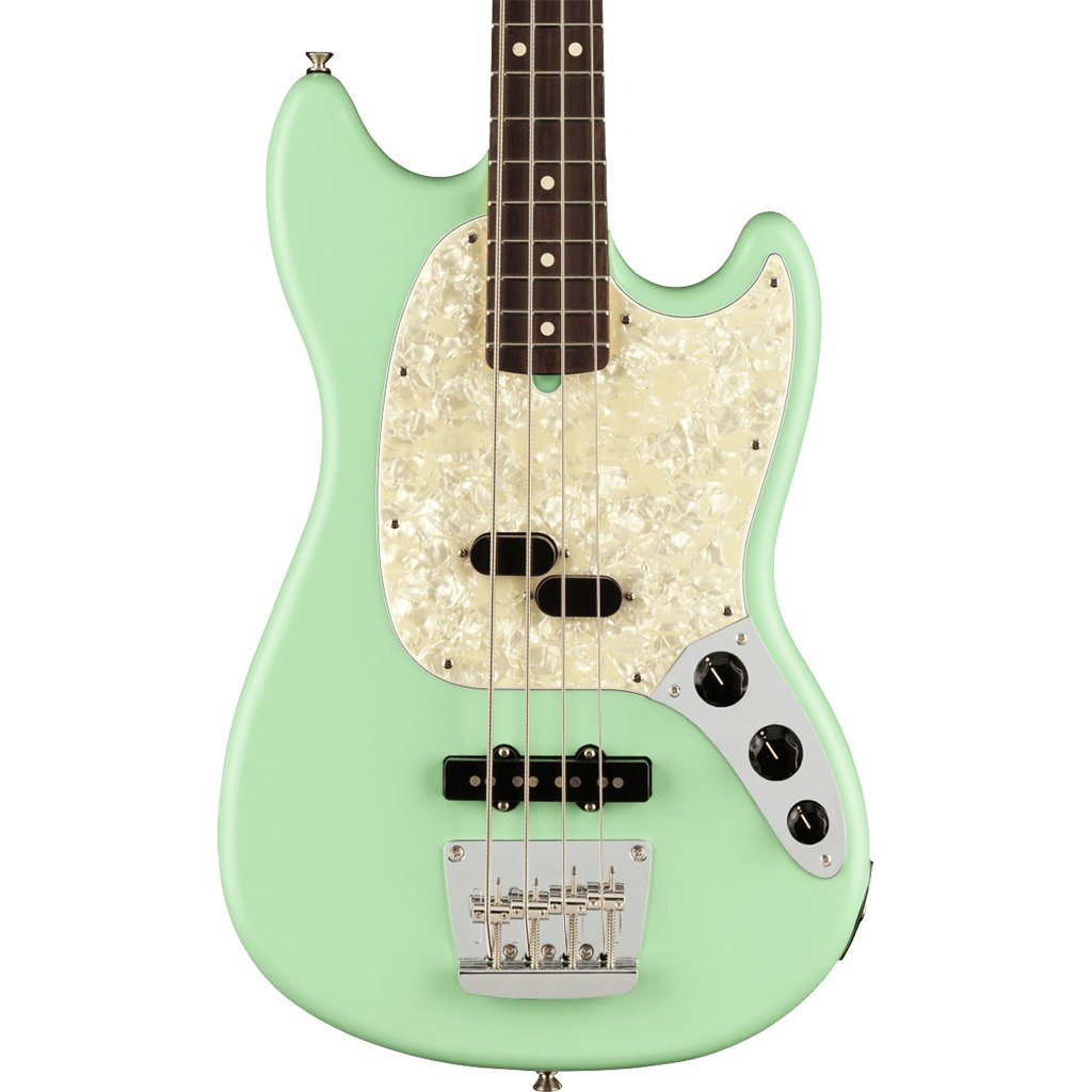 Fender American Performer Mustang Bass - Satin Surf Green - Rosewood Fretboard