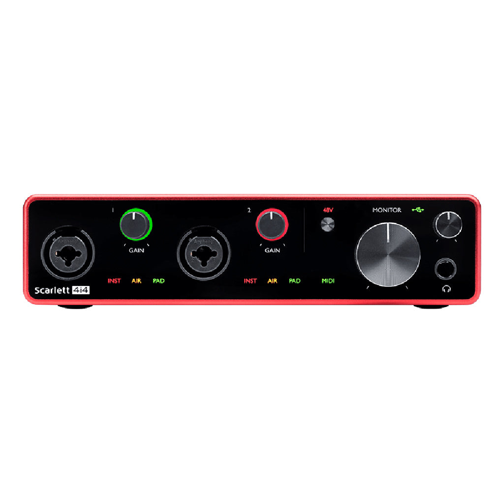 Focusrite Scarlett 4i4 Gen 3 - 4 in 4 out USB Audio Interface