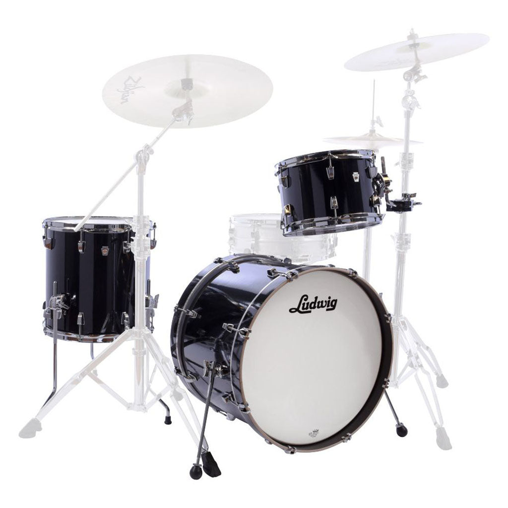 "Ludwig Neusonic 20"" 3 Piece Shell Pack - Black Cortex"