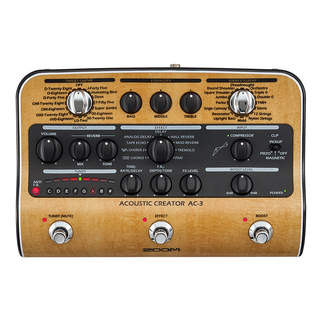 Zoom AC-3 Acoustic Creator Effects and Amp Simulator