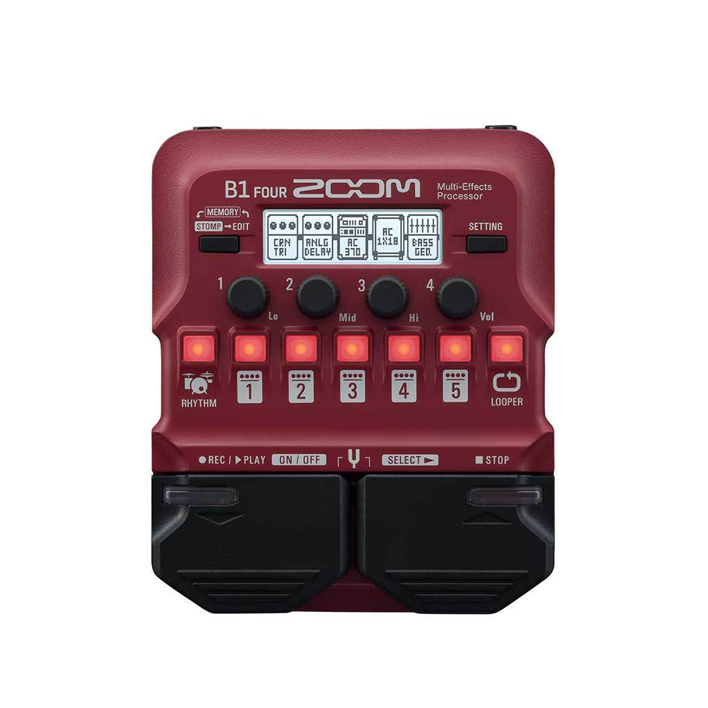 Zoom B1 Four Bass Effects Pedal