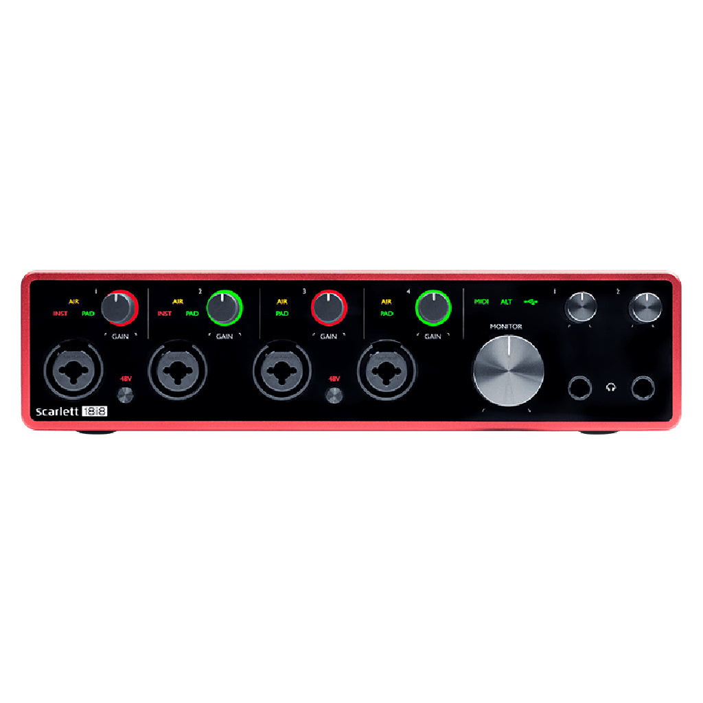 Scarlett 18i8 Gen 3 - 18 in 8 out USB Audio Interface
