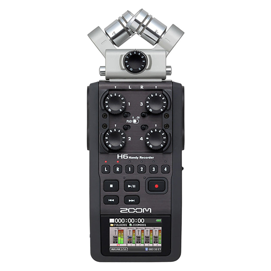 Zoom - H6 - All Black Handy Recorder