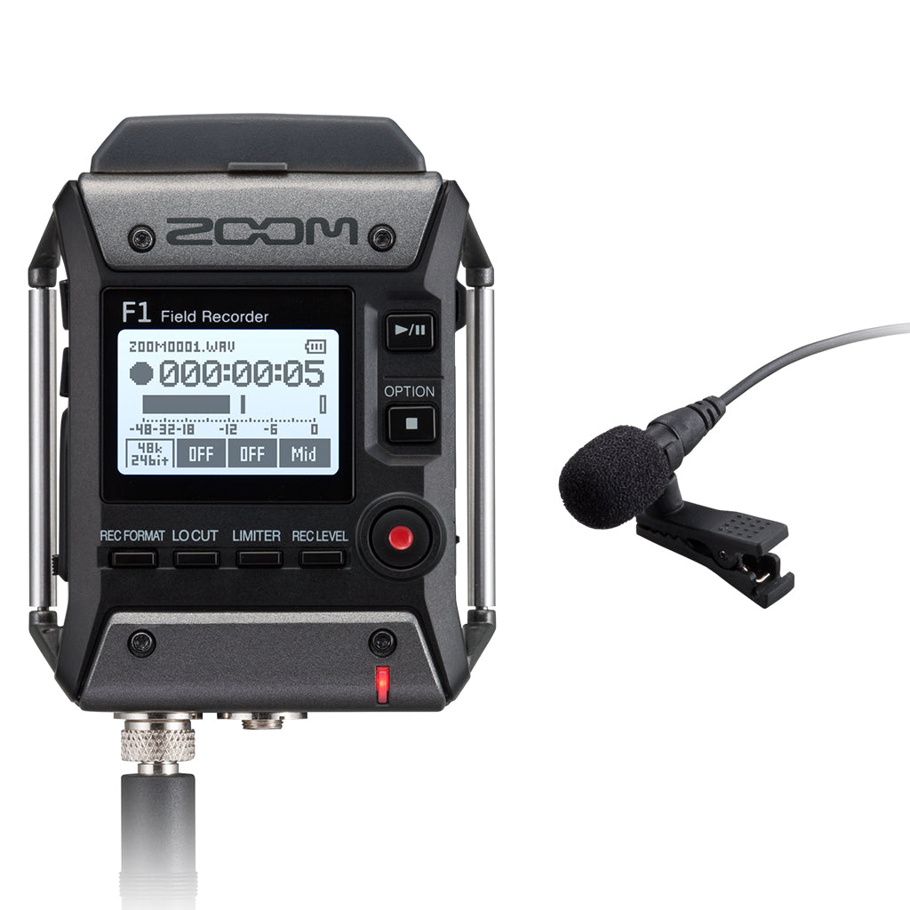 Zoom - F1-LP - Field Recorder and Lavalier Microphone