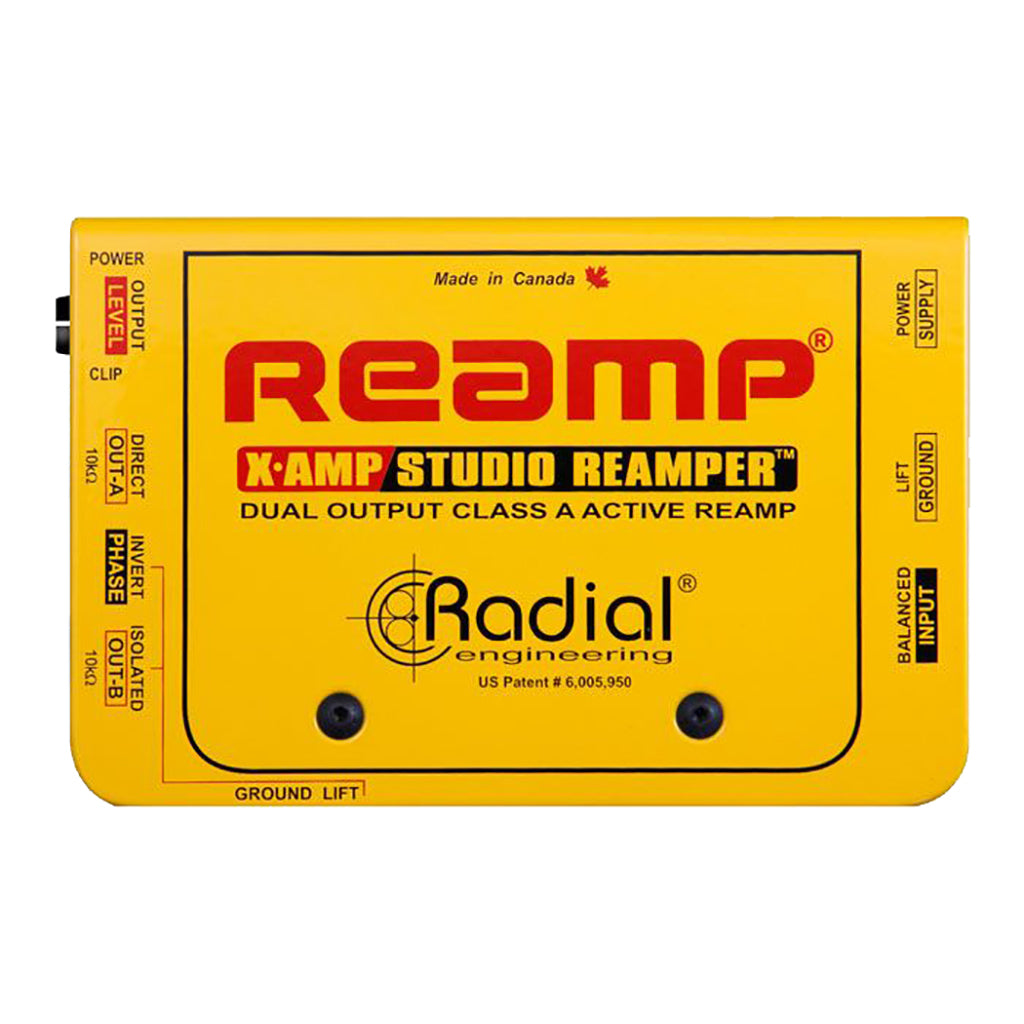 Radial X-AMP - Active Class-A Re-amping Device, Dual Output. PSU Included