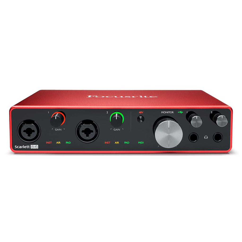 Focusrite Scarlett 8i6 Gen 3 - 8 in 6 out - USB Audio Interface