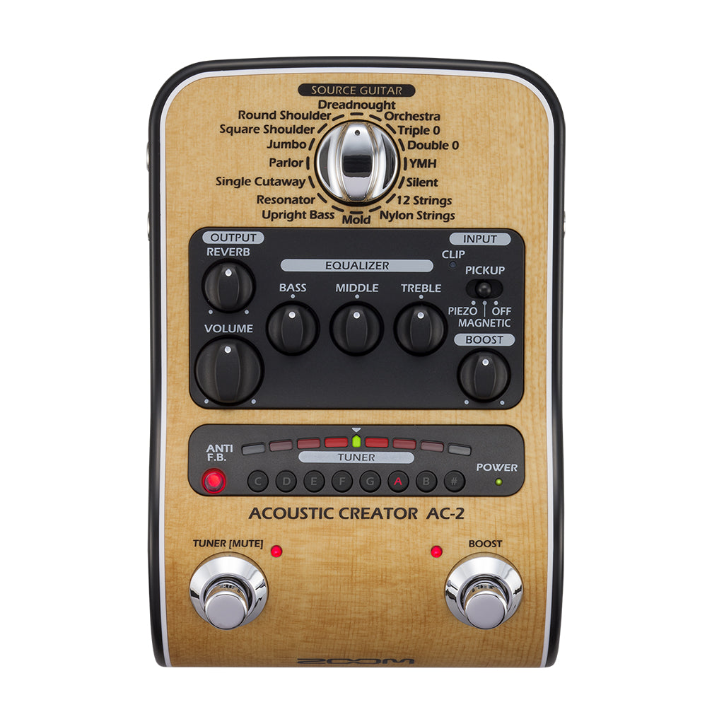 Zoom AC-2 Acoustic Creator Effects and Amp Simulator