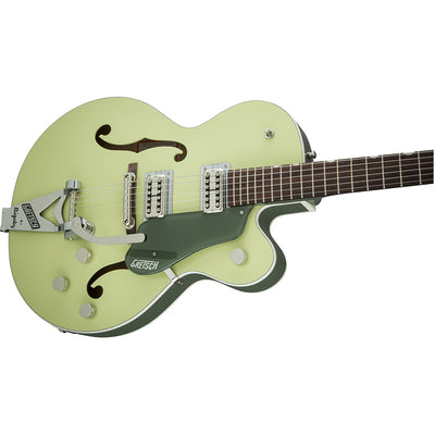 Gretsch G6118T-SGR Players Edition Anniversary - 2 Tone Smoke Green - Side