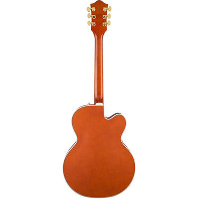 Gretsch G6120T-LH Players Edition Nashville Left Handed - Orange - Back