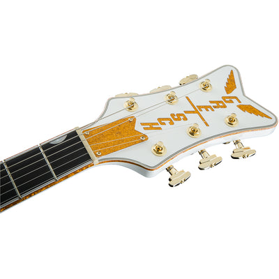 Gretsch G6136T-WHT Players Edition White Falcon - Headstock