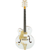 Gretsch G6136T-LH Left Handed Players Edition White Falcon - Front