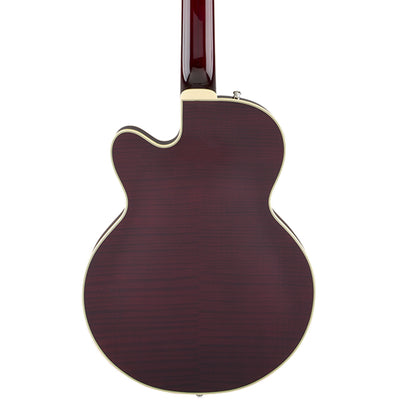 Gretsch G6659TFM Players Edition Broadkaster Junior - Tiger Flame Maple Dark Cherry Stain