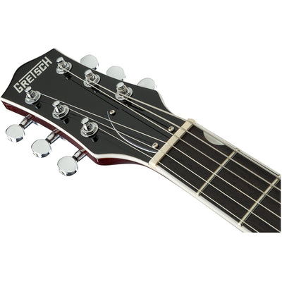 Gretsch G5230LH Left Handed Electromatic Jet - Black - Headstock