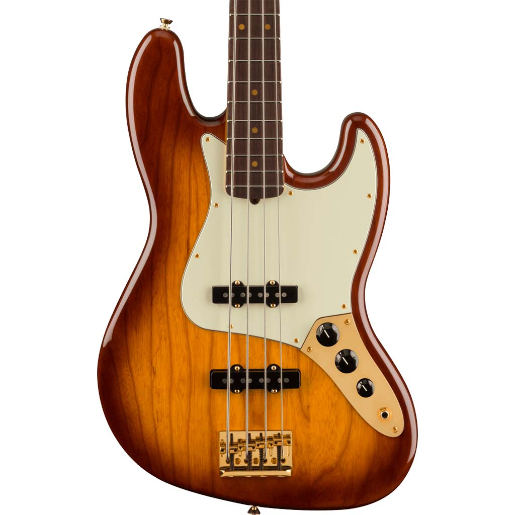 Fender - 75th Anniversary Commemorative Jazz Bass® - Rosewood Fingerboard - 2-Color Bourbon Burst