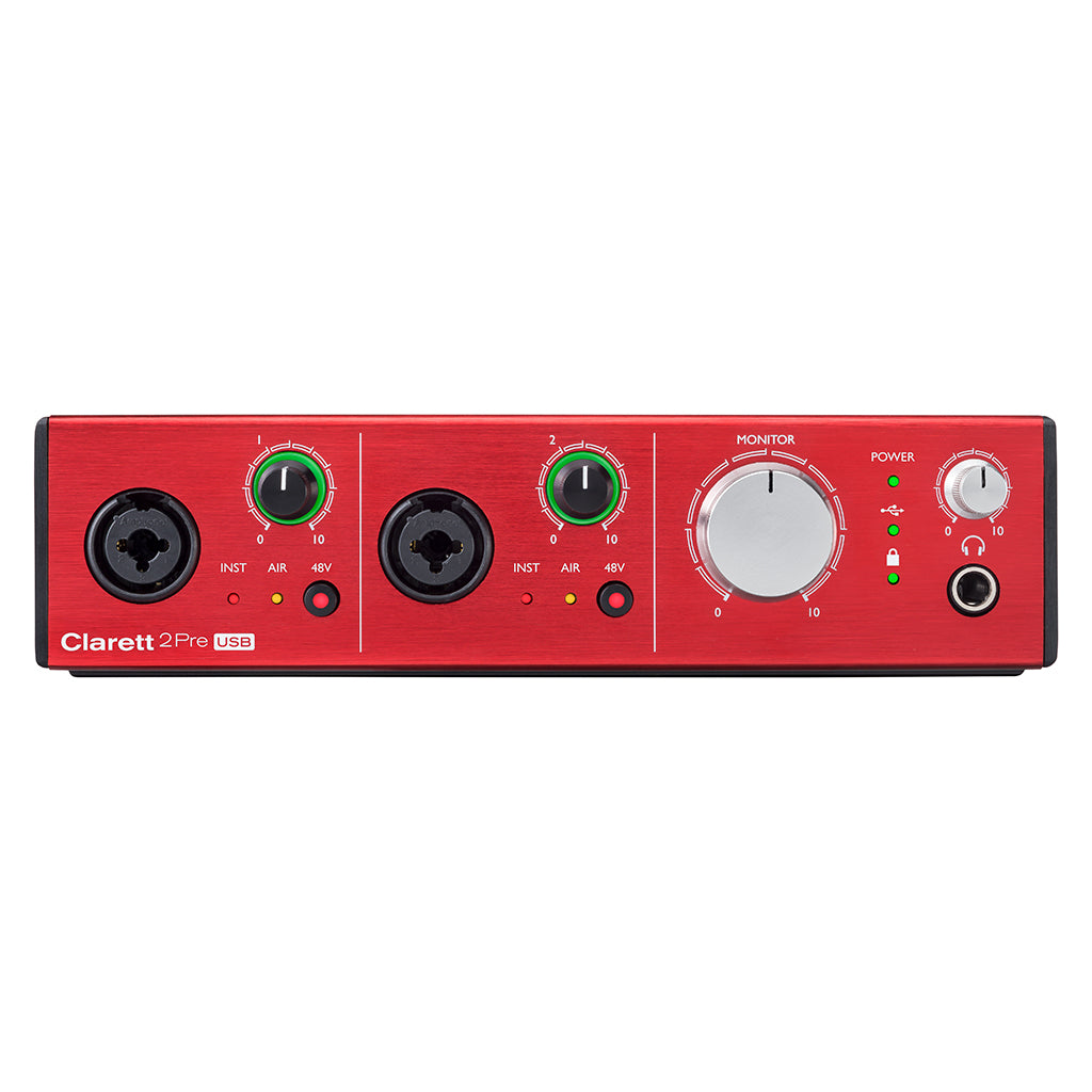 Focusrite Clarrett 2Pre USB  10 in 4 out Audio Interface