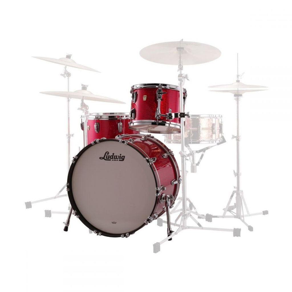 "Ludwig Classic Maple 20"" Downbeat 3-Piece Shell Pack - Red Sparkle"