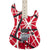 EVH Striped Series 5150 - Red, Black, White - Hero