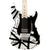 EVH Striped Series - White with Black Stripes - Hero